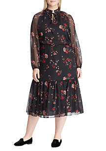Plus Size Sophronia Long Sleeve Dress