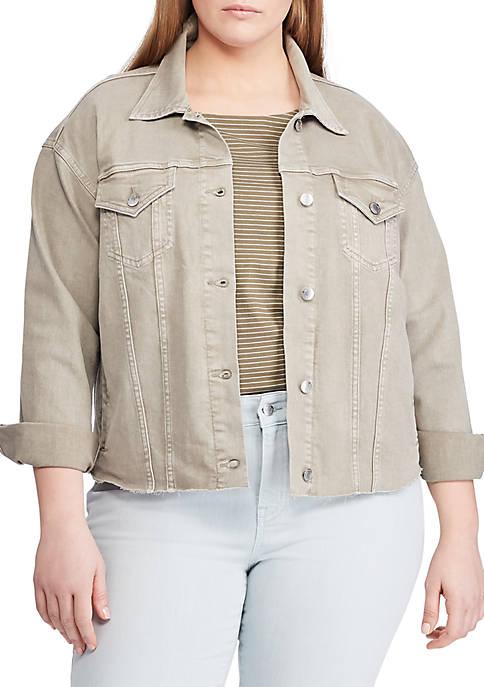 Lauren Ralph Lauren Plus Size Cropped Denim Jacket