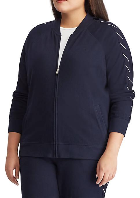 Lauren Ralph Lauren Plus Size Cotton Bomber Jacket