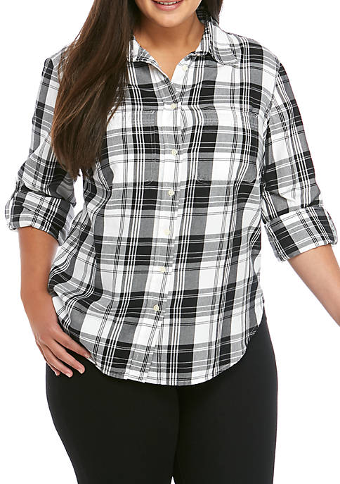 Lauren Ralph Lauren Plus Size Lizbeth Plaid Shirt
