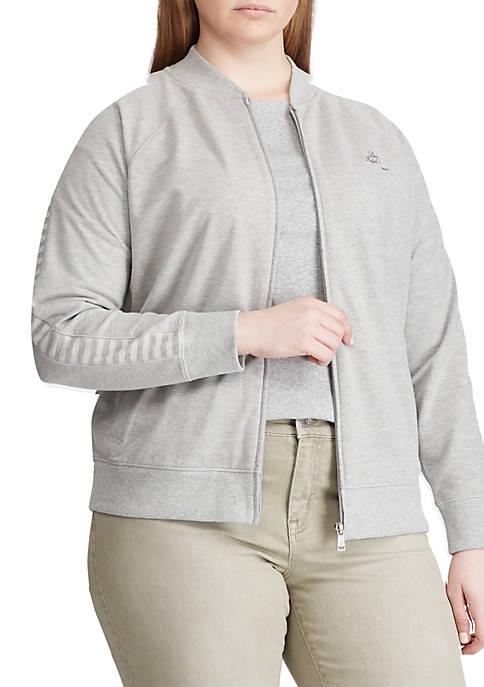 Lauren Ralph Lauren Plus Size French Terry Jacket