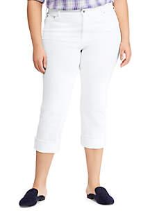 Lauren Ralph Lauren Plus Size Regal Straight Crop High Rise Jeans