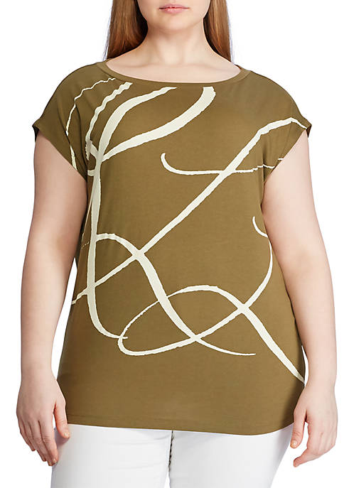 Lauren Ralph Lauren Plus Size Logo Print Cotton