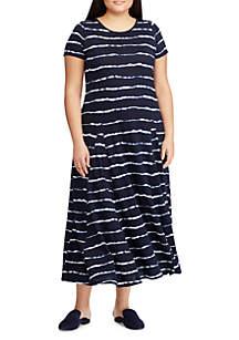 b303b4c4 ... Lauren Ralph Lauren Plus Size Striped Cotton T-Shirt Dress