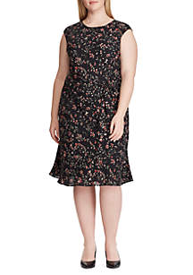 Lauren Ralph Lauren Plus Size Floral Fit and Flare Dress