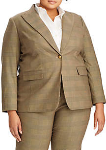 Lauren Ralph Lauren Plus Size Friesann Menswear Blazer