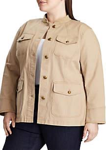 Lauren Ralph Lauren Plus Size Petrel Safari Jacket