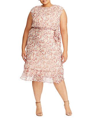 Plus Size Alistair Floral Tie Dress