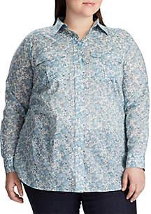 Lauren Ralph Lauren Plus Size Courtenay Floral Shirt