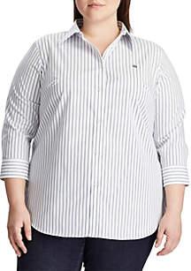 Lauren Ralph Lauren Plus Size Gwenno Striped Shirt