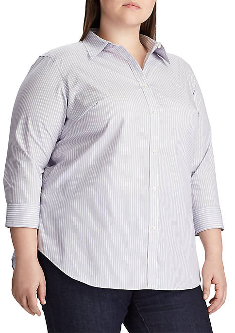 Plus Size Gwenno Stripe Shirt