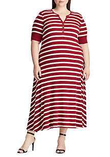 Lauren Ralph Lauren Plus Size Byoko Stripe Midi Dress