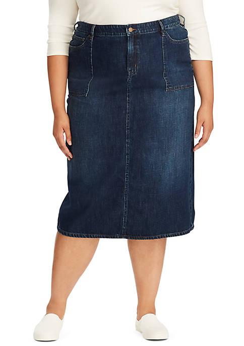 Lauren Ralph Lauren Plus Size Sildana Midi Denim