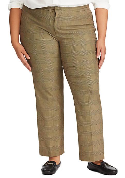 Lauren Ralph Lauren Plus Size Quartilla Menswear Pants