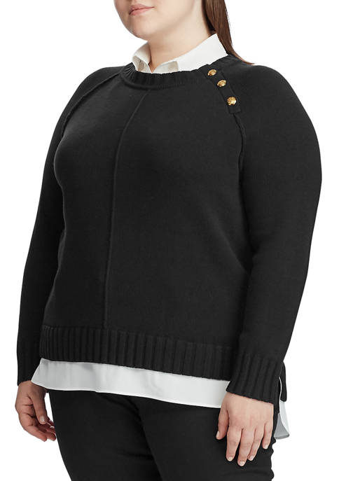 Plus Size Shirt Underlayer Sweater