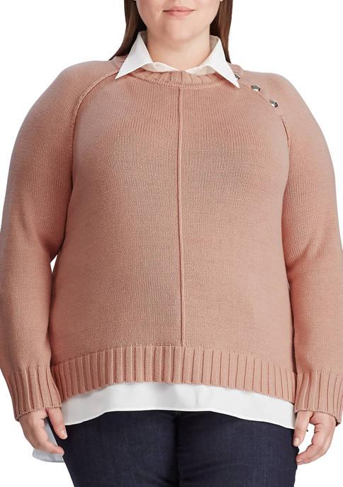 Plus Size Shirt Underlayer Sweater
