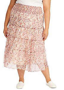 Lauren Ralph Lauren Plus Size Zahra Floral Peasant Skirt