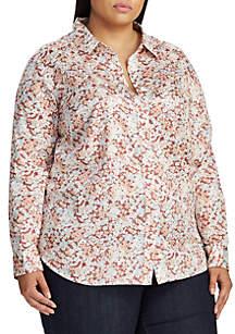 Lauren Ralph Lauren Plus Size Jamelko Floral Shirt