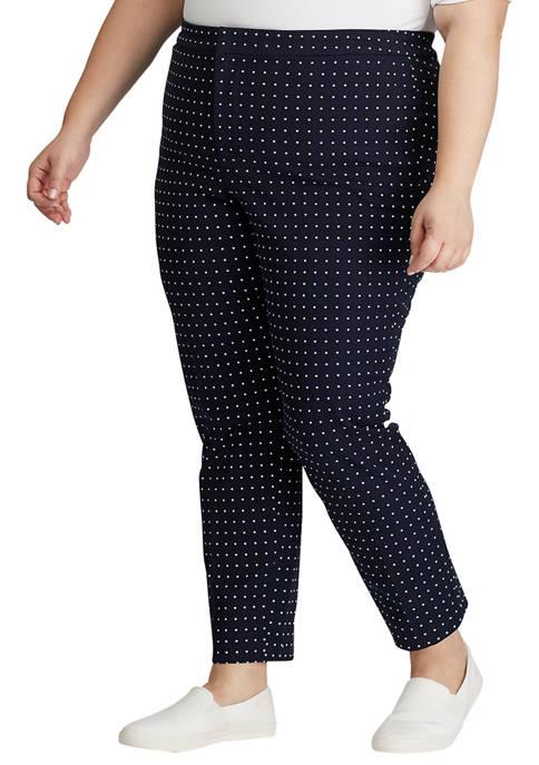 Lauren Ralph Lauren Plus Size Polka Dot Stretch