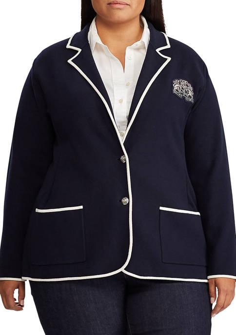 Lauren Ralph Lauren Plus Size Cotton Blend Jacket