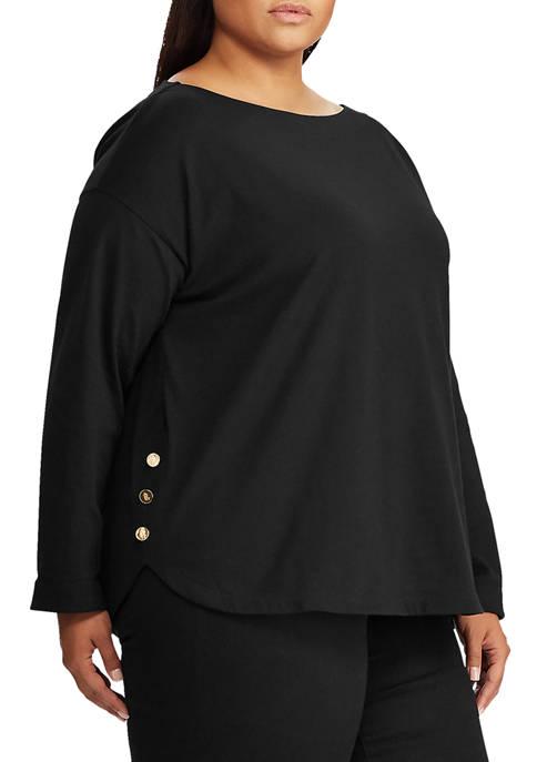 Lauren Ralph Lauren Plus Size Button Trim Boat