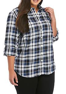 Lauren Ralph Lauren Plus Size Lizbeth Plaid Shirt