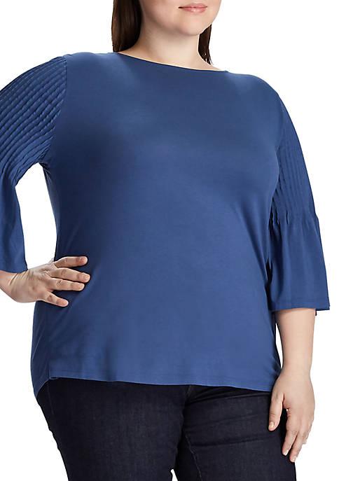 Lauren Ralph Lauren Plus Size Caylen Pleated Sleeve