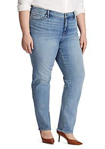 Lauren Ralph Lauren Plus Size Straight 5 Pocket Jeans