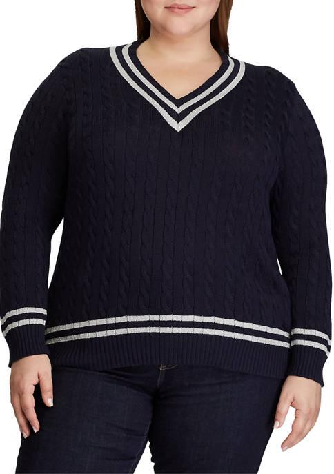 Lauren Ralph Lauren Plus Size Metallic Cricket Sweater