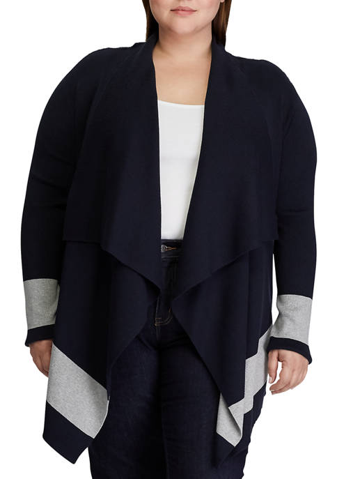 Lauren Ralph Lauren Plus Size Color Blocked Cotton