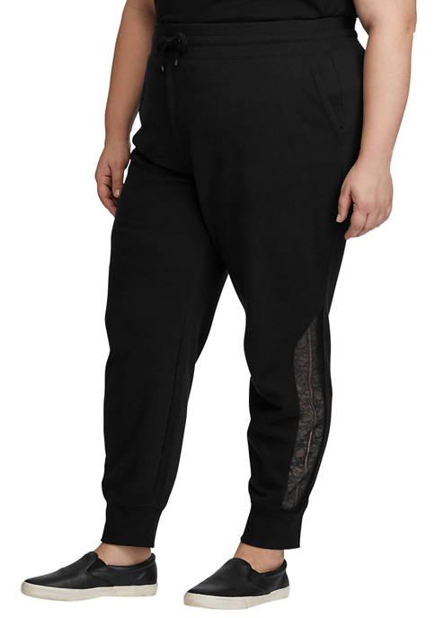Lauren Ralph Lauren Plus Size Lace Trim Terry