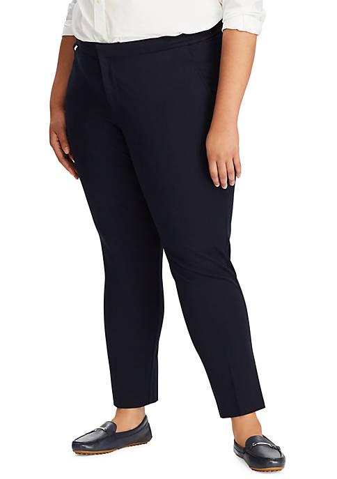 Lauren Ralph Lauren Plus Size Stretch Straight Pants