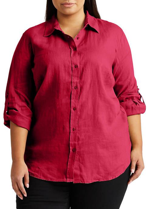 Plus-Size Linen Shirt