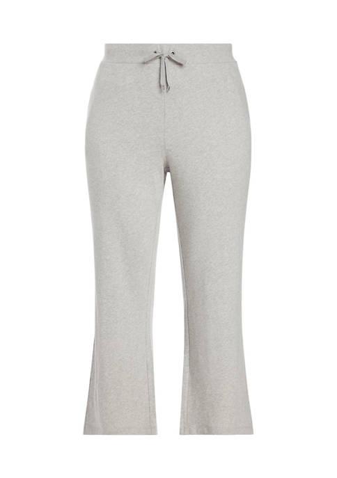 Lauren Ralph Lauren Plus-Size Cotton Wide-Leg Pant