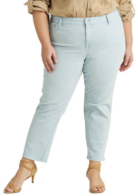 Lauren Ralph Lauren Plus-Size Premier Straight Ankle Jean