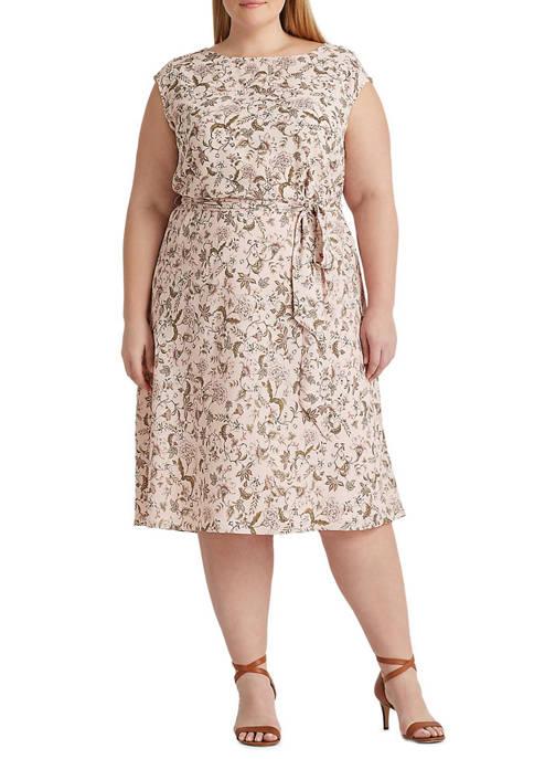 Lauren Ralph Lauren Plus-Size Floral Georgette Dress