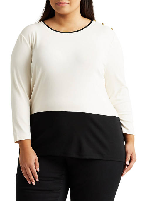 Plus-Size Color-Blocked Top