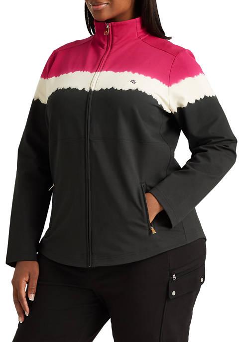 Lauren Ralph Lauren Plus-Size Cotton-Blend Mockneck Jacket