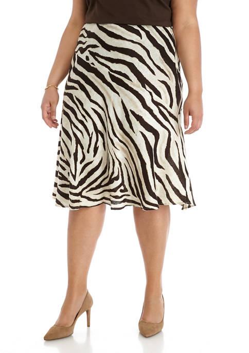 Lauren Ralph Lauren Plus Size Zebra Printed Skirt