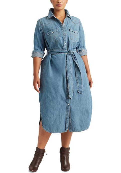 Lauren Ralph Lauren Plus Size Western Denim Shirt