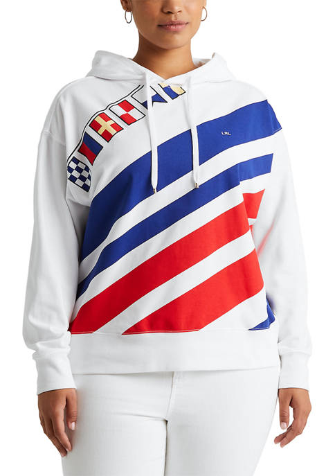 Lauren Ralph Lauren Plus Size Flags-and-Stripes French Terry