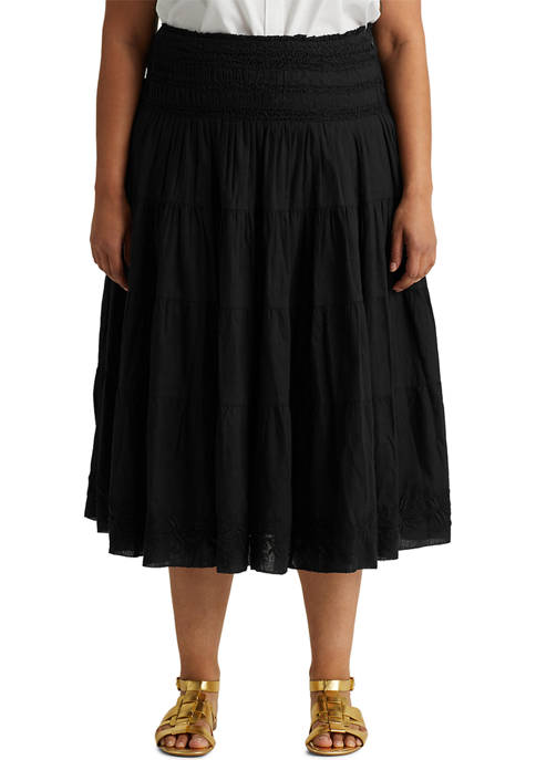 Lauren Ralph Lauren Plus Size Cotton Linen Voile