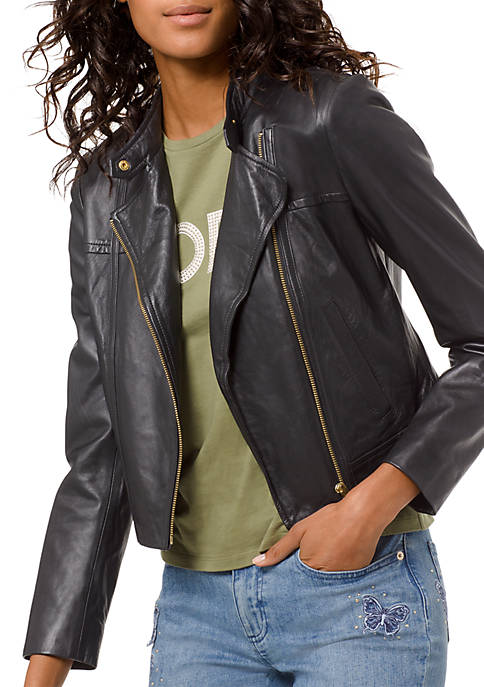 MICHAEL Michael Kors Leather Moto