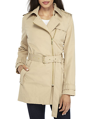 discount up to 60% multiple colors great deals 2017 Zip Detail Trench Jacket