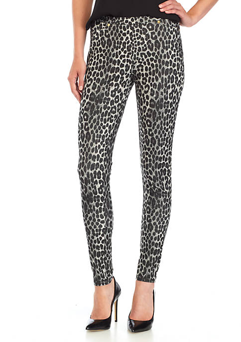 MICHAEL Michael Kors Panther Print Pull-On Legging