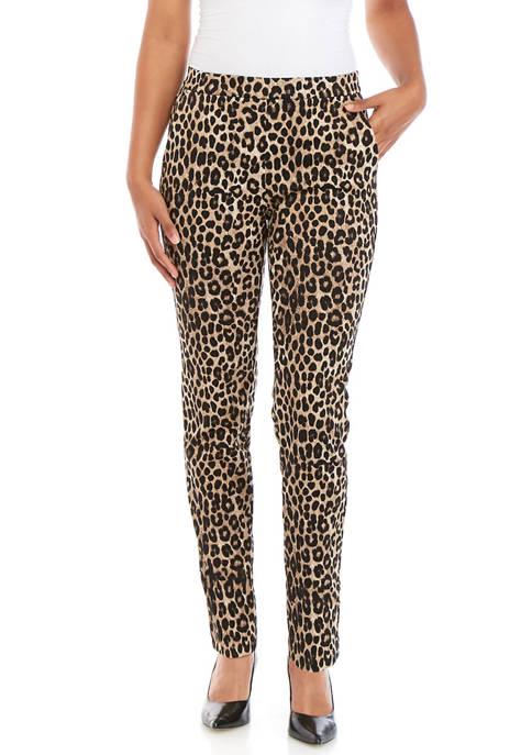 Womens Cheetah Pull On Leggings