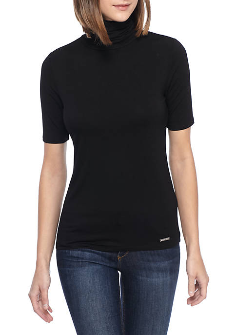MICHAEL Michael Kors Mock-Neck Solid Jersey Top