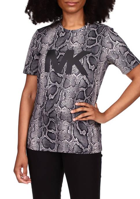 MICHAEL Michael Kors Womens Snake Short Sleeve Logo