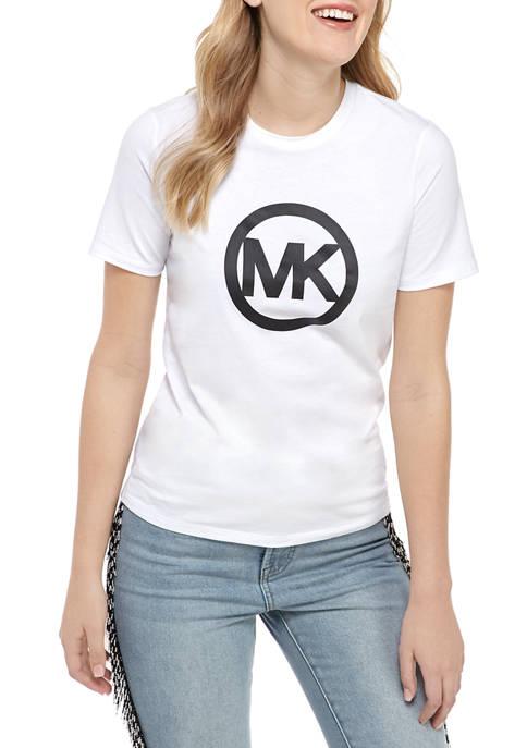 MICHAEL Michael Kors Womens Logo Graphic T-Shirt