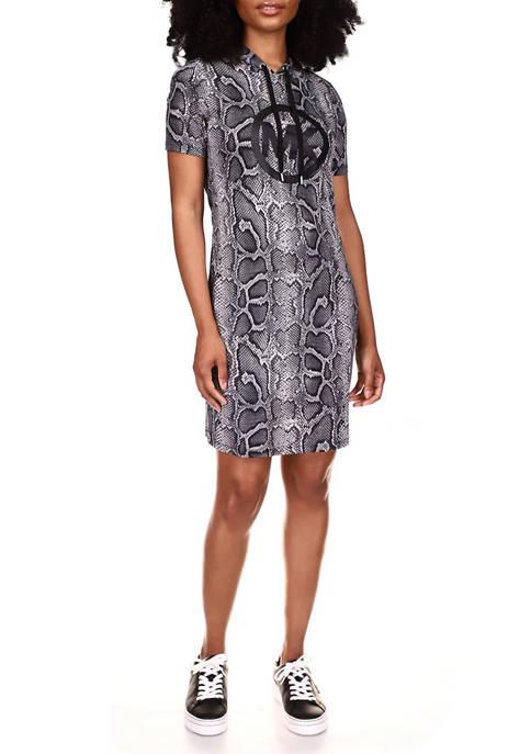 MICHAEL Michael Kors Womens Short Sleeve Snakeskin Logo